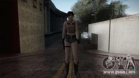Resident Evil HD - Rebecca Chambers Cowgirl para GTA San Andreas segunda pantalla