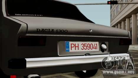 Dacia 1300 para GTA San Andreas vista hacia atrás