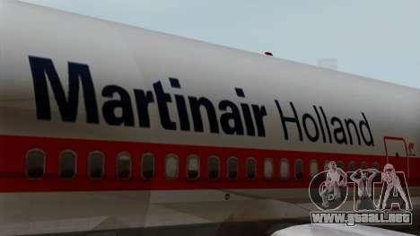 DC-10-30 Martinair para GTA San Andreas vista hacia atrás