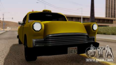 Cabbie New Edition para GTA San Andreas vista posterior izquierda