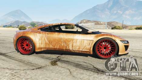 GTA 5 Dinka Jester (Racecar) Chocolate vista lateral izquierda
