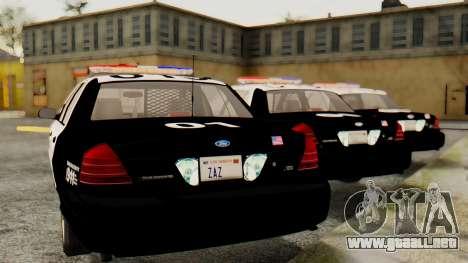 Ford Crown Victoria 2009 LAPD para GTA San Andreas left