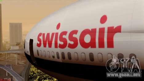 DC-10-30 Swissair para GTA San Andreas vista hacia atrás