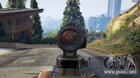 GTA 5 Battlefield 4 AK-12 sexta captura de pantalla