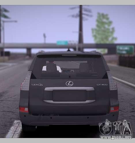 Lexus GX460 2014 para la visión correcta GTA San Andreas