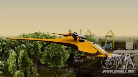 Star Wars N-1 Naboo Starfighter para GTA San Andreas vista hacia atrás