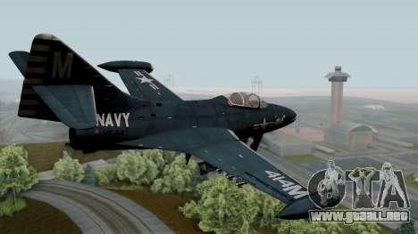Grumman F9F-5 Phanter para GTA San Andreas left