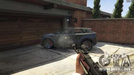 GTA 5 Battlefield 4 AK-12 noveno captura de pantalla