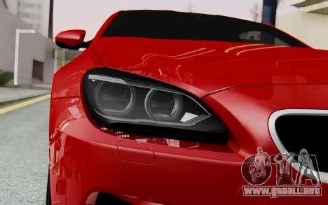 BMW M6 2013 v1.0 para GTA San Andreas vista hacia atrás