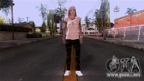 Piel de niña para GTA San Andreas segunda pantalla