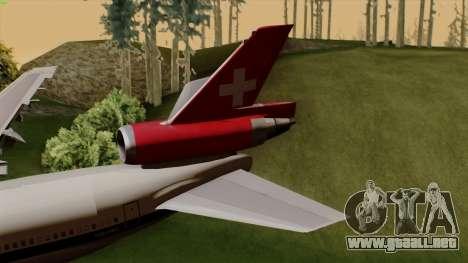 DC-10-30 Swissair para GTA San Andreas vista posterior izquierda