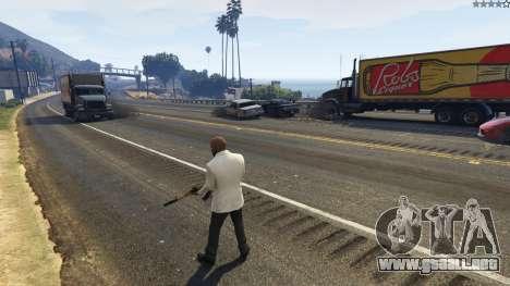 GTA 5 La explosión dejó a los neumáticos de los coches cuarto captura de pantalla