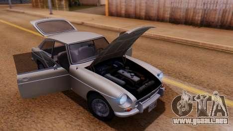 MGB GT (ADO23) 1965 FIV АПП para visión interna GTA San Andreas