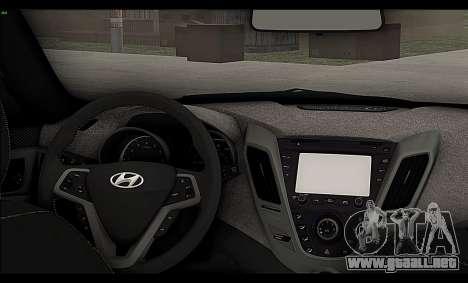 Hyundai Veloster 2012 para visión interna GTA San Andreas