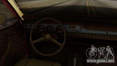 Dacia 1300 para GTA San Andreas vista posterior izquierda