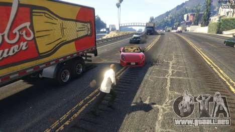 GTA 5 La explosión dejó a los neumáticos de los coches tercera captura de pantalla