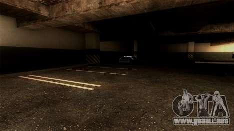 Nueva LSPD Aparcamiento para GTA San Andreas sucesivamente de pantalla