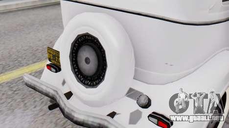 Smith V8 from Mafia 2 para GTA San Andreas vista hacia atrás