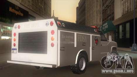 FDSA Fire Van para GTA San Andreas left