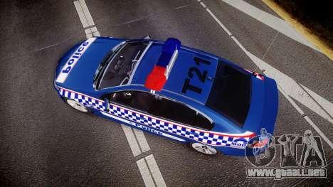 Holden VE Commodore SS Highway Patrol [ELS] v2.0 para GTA 4 visión correcta