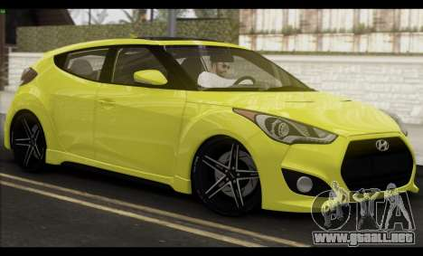 Hyundai Veloster 2012 para la vista superior GTA San Andreas