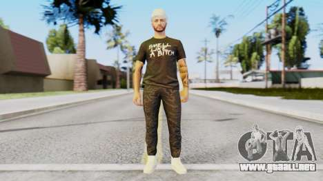 Personalized Skin from GTA Online para GTA San Andreas segunda pantalla