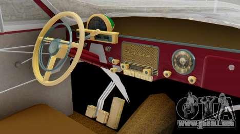 GAZ 21 Volga v2 para la visión correcta GTA San Andreas