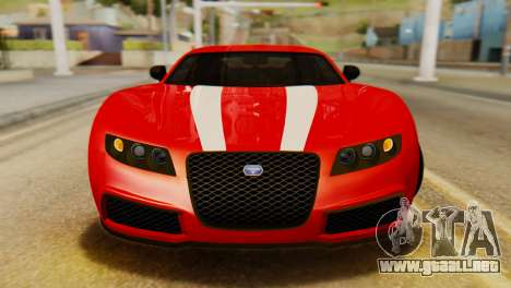 GTA 5 Adder Secondary Color Tire Dirt para GTA San Andreas vista hacia atrás