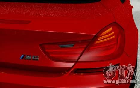 BMW M6 2013 v1.0 para la vista superior GTA San Andreas