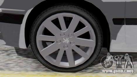 Peugeot 406 para GTA San Andreas vista posterior izquierda