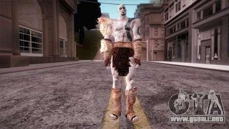 God Of War 3 Kratos Blue para GTA San Andreas segunda pantalla