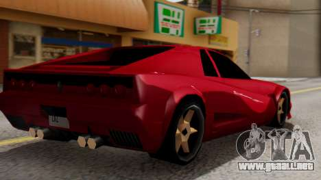 Cheetah Al_Piso para GTA San Andreas left