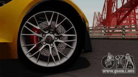 Chevrolet Corvette Z06 1.0.1 para la visión correcta GTA San Andreas