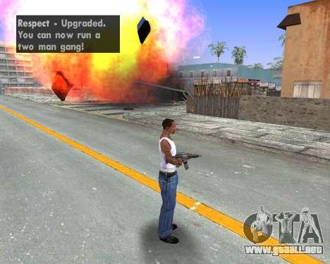 Blood Effects para GTA San Andreas quinta pantalla