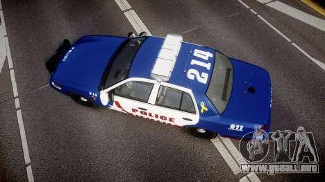 Ford Crown Victoria Alderney Police [ELS] para GTA 4 visión correcta