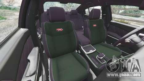 GTA 5 Dodge Charger RT 2015 v1.1 delantero derecho vista lateral