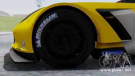 Chevrolet Corvette C7R GTE 2014 PJ1 para GTA San Andreas vista posterior izquierda