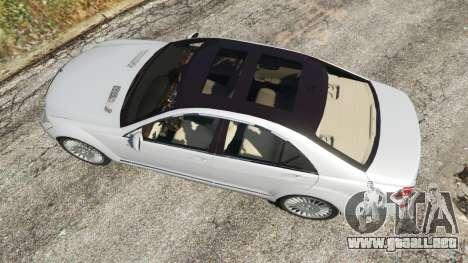 GTA 5 Mercedes-Benz S500 W221 v0.3 [Alpha] vista trasera