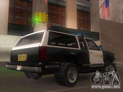 Yosemite Police 2015 para GTA San Andreas left