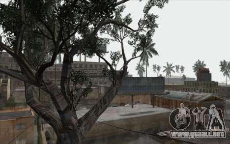 Los árboles de WarFace para GTA San Andreas sexta pantalla