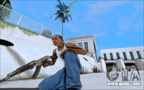 AK-47 Carbone Edition para GTA San Andreas sucesivamente de pantalla