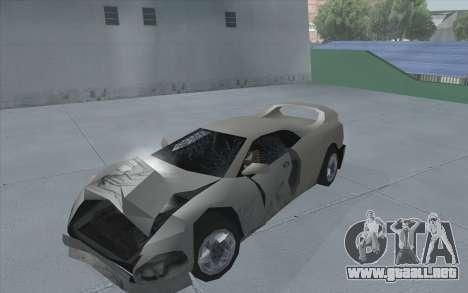 GTA 3 Infernus SA Style para GTA San Andreas vista posterior izquierda
