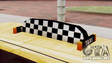 Landstalker Taxi SR 4 Style Flatshadow para la visión correcta GTA San Andreas