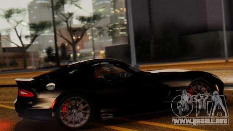 Dodge Viper SRT GTS 2013 IVF (MQ PJ) LQ Dirt para GTA San Andreas left