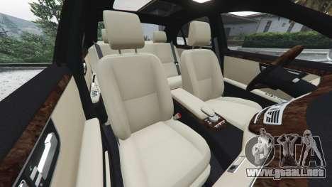 GTA 5 Mercedes-Benz S500 W221 v0.3 [Alpha] delantero derecho vista lateral