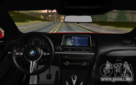 BMW M6 2013 v1.0 para GTA San Andreas vista posterior izquierda