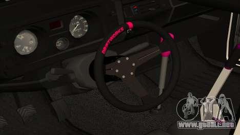 VAZ 2105 AC v2.0 para visión interna GTA San Andreas