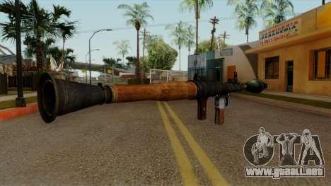 Original HD Rocket Launcher para GTA San Andreas segunda pantalla