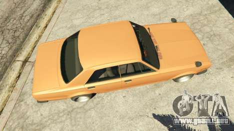 GTA 5 Nissan Skyline 2000 GT-R 1970 v0.1 [Beta] vista trasera