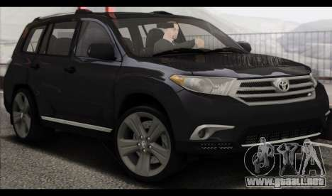 Toyota Highlander 2011 para GTA San Andreas left